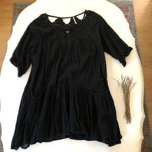 Free People Crochet Mini Slip Dress